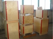 Wooden boxes and chipboard